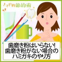 歯磨き粉はいらない!歯磨き粉がない場合のハミガキのやり方