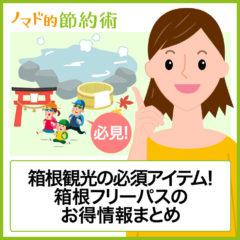 箱根観光の必須アイテム!箱根フリーパスの料金・使い方・割引施設のまとめ