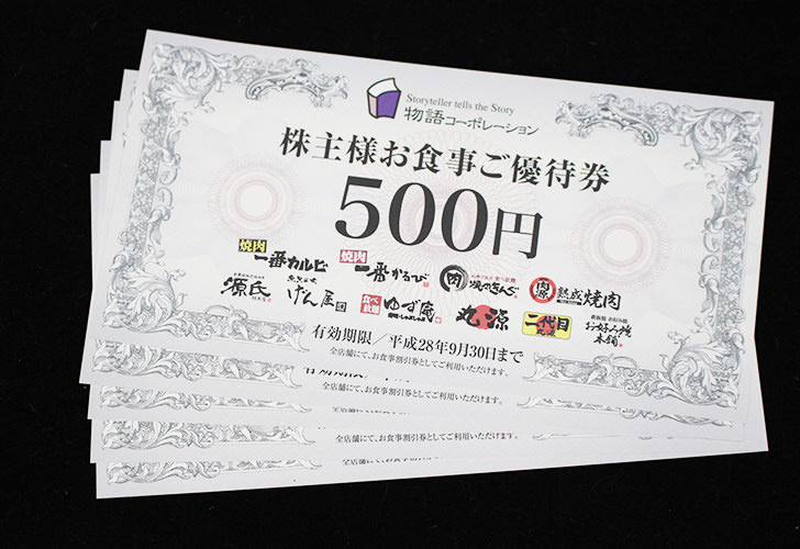 物語コーポレーション(3097)株主優待
