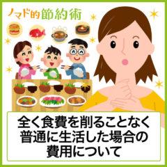 食費を全く節約しない場合は1ヶ月いくら?30代前半夫婦と子供2人の家庭で実験した結果
