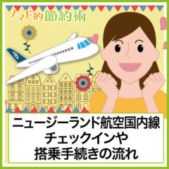 ニュージーランド航空国内線の搭乗記。チェックインや搭乗手続きの流れをまとめました
