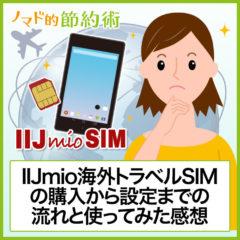 IIJmio海外トラベルSIMの購入から設定までの流れと使ってみた感想