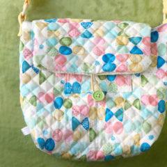 【手順写真付き】余った布(ハギレ)を有効活用したリバーシブルショルダーバッグの作り方