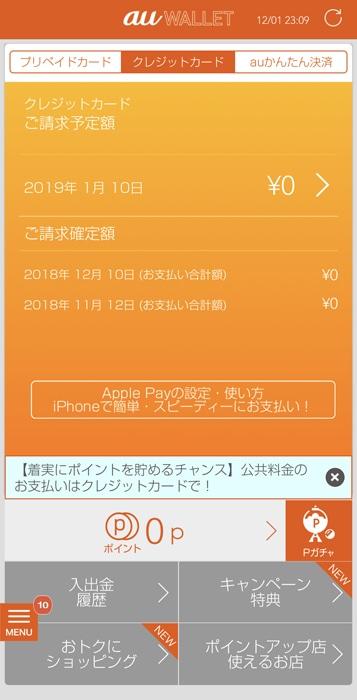 クレジット カード 明細 au