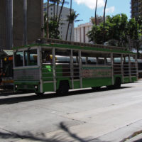 ハワイで便利な乗り放題のH.I.S.レアレアトロリーを使った感想と一般向けの料金まとめ