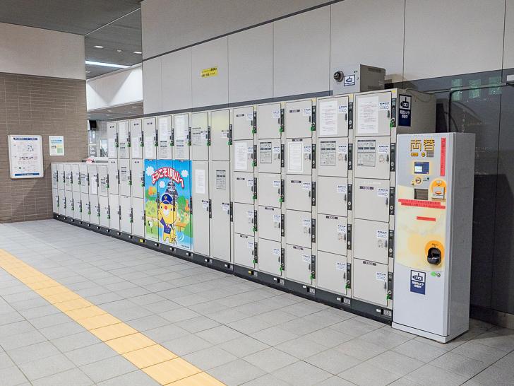 岡山駅 在来線改札内ロッカー