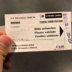 ウィーン24時間チケット(24 hours Vienna ticket)の買い方と乗り方を解説!地下鉄・トラム・バスが乗り放題に