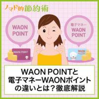 WAON POINTと電子マネーWAONポイントの違いとは?使い分け方やおすすめの使い道についても徹底解説