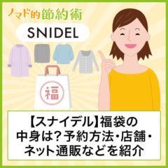 【ネタバレあり】スナイデル(SNIDEL)福袋2021年の中身は?予約方法、店舗・ネット通販一覧などを紹介