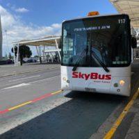 オークランド国際空港から市内へスカイバスで移動する方法とチケットの買い方を写真つきで解説