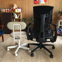 ハーマンミラーエンボディチェアと無印良品の椅子比較